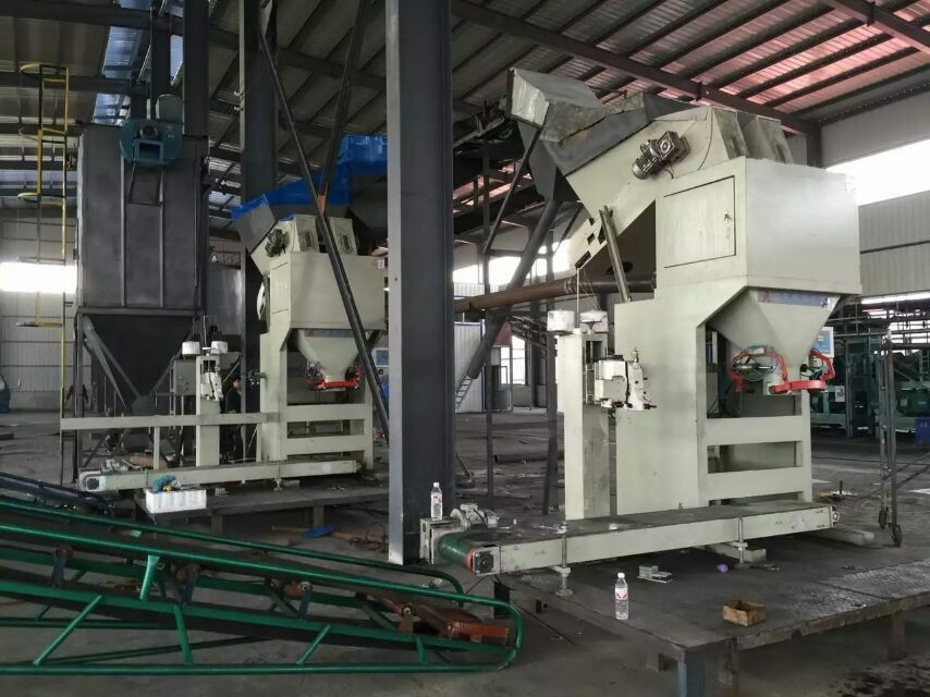 Net Weighing Pebble / Gravel / Coal Bagging Plant Automatic Bagging System
