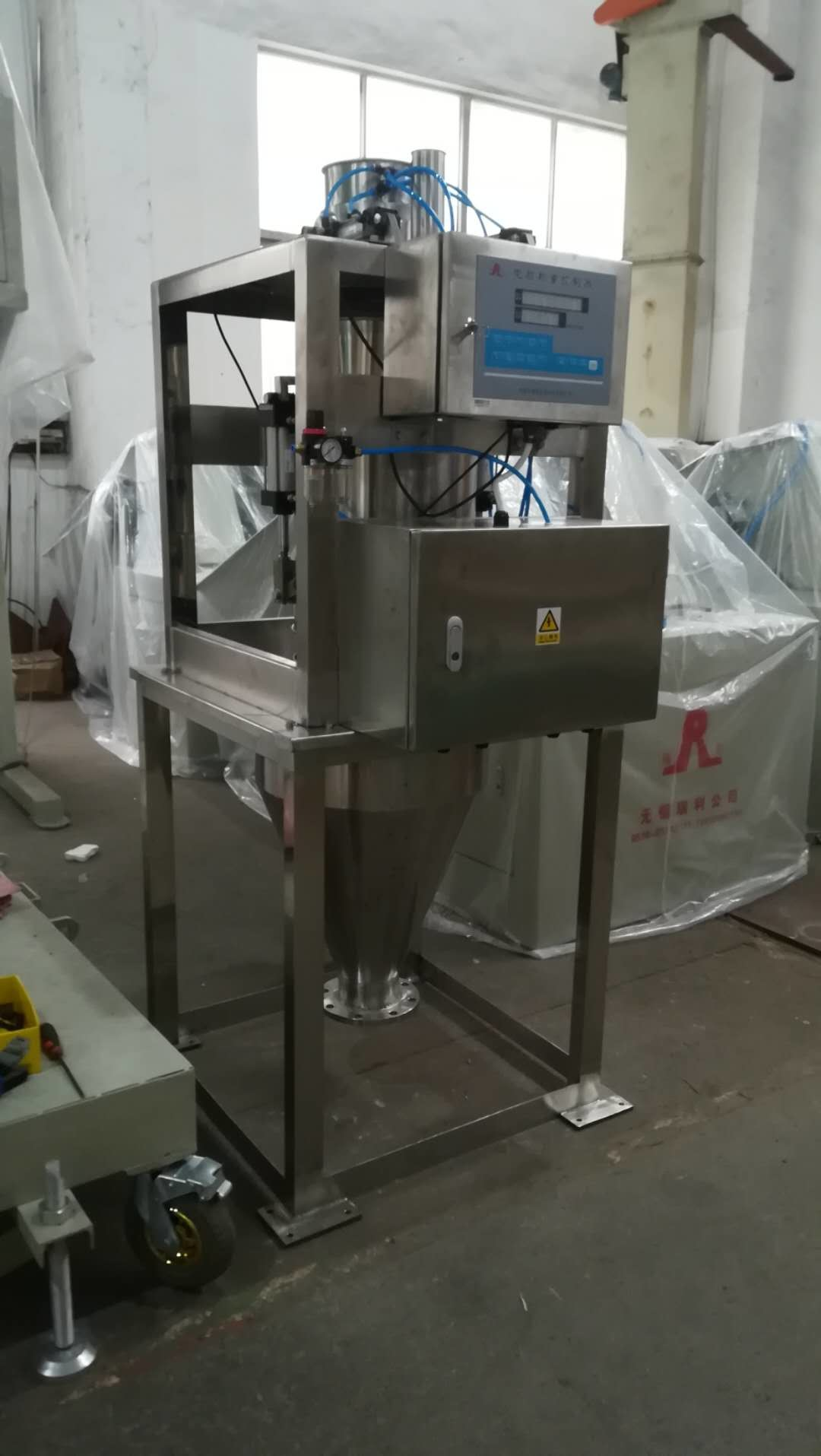 Pneumatic Drive Type Flux Accumulation Scale , Online Weighing Scale For Powder